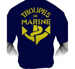 T-shirt Troupes de Marine...