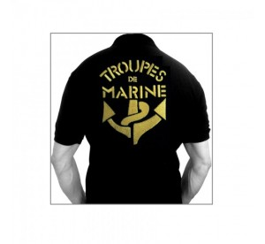 Polo Troupes de Marine (Noir)