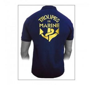 Polo Troupes de Marine (Bleu)